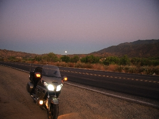Goldwing and full moon