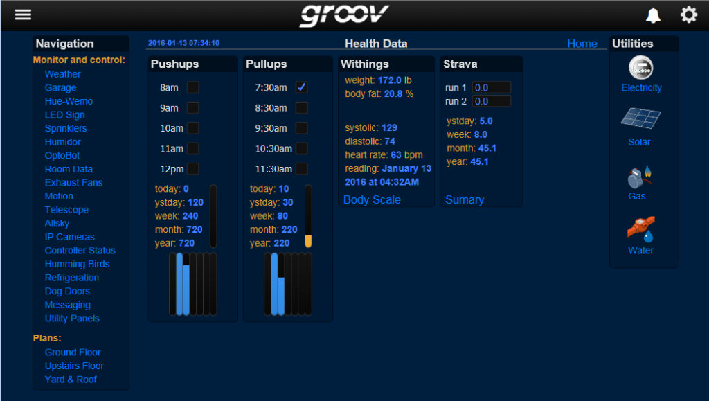 groov health data